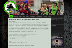 Atomic City Roller Girls Web Site
