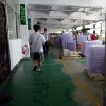 Entering the factory floor.